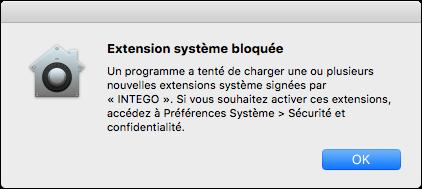 Extension système bloquée