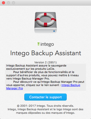 À propos de Intego Backup Assistant >  Version 2 > sous licence