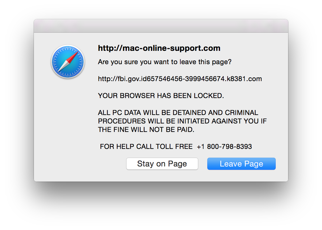 About the Web Browser Pop-up Alert Scam – Intego Support