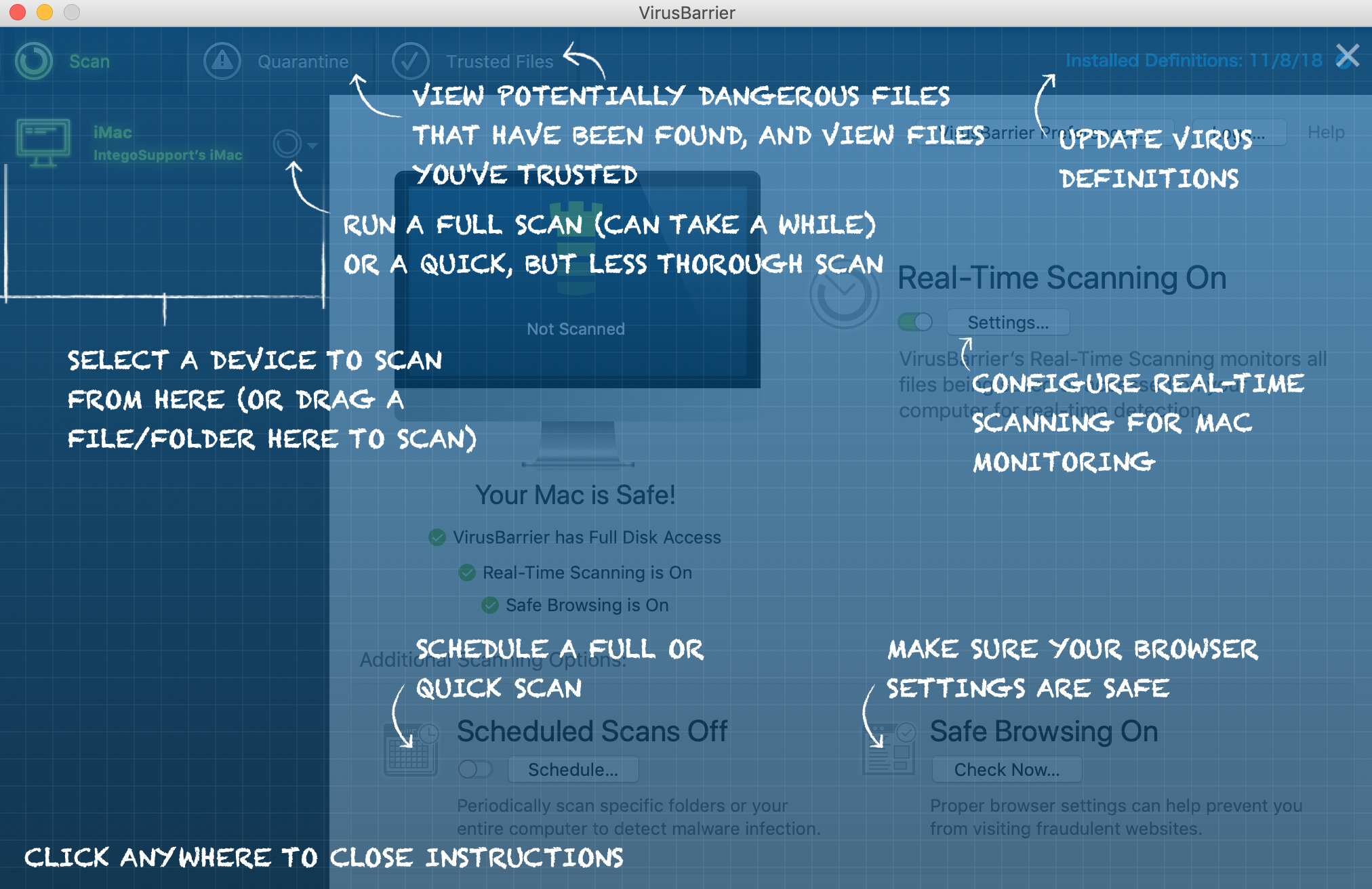 VirusBarrier X9 User Manual – Intego Support