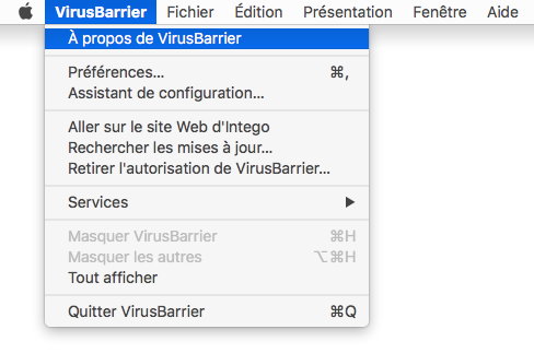 VirusBarrier > À propos de VirusBarrier