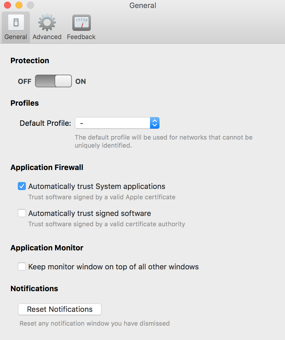 turn off virus protection mac